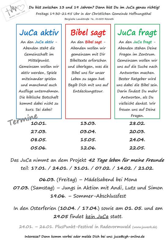 JuCa Programm 1. HJ 2020